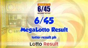 6/45 Lotto Result Today, Wednesday, January 20, 2021