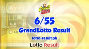 6/55 Lotto Result Today, Saturday, December 5, 2020