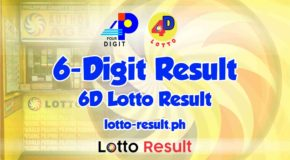6D Lotto Result Today, Saturday, December 5, 2020