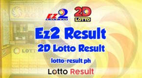 EZ2 RESULT Today, Saturday, December 5, 2020