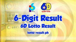 6D Lotto Result Today, Tuesday, May 18, 2021